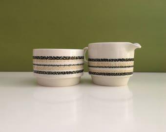 Vintage Biltons England Creamer and Sugar Bowl/Mid Century Creamer and Sugar