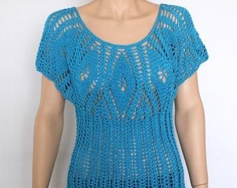 Crochet Summer Top Pattern Crochet Halter Tops Halter Top Crochet Pattern gift for her Crochet Blouse Crochet Cover Up Crochet Summer