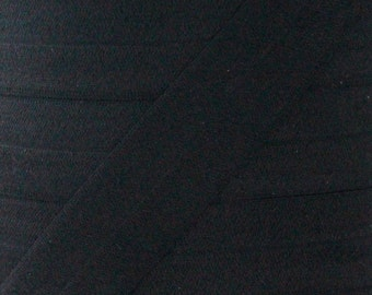 "5 YARDS One Inch Black Fold Over Elastic - Black 1"" Elastic For Headbands - 5 Yards of One inch FOE - Baby Headbands - Headband Supplies"
