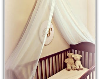 Crib Canopy  Cradle Crown Canopy  Shabby Nursery  Elegant Baby  Crib Bedding