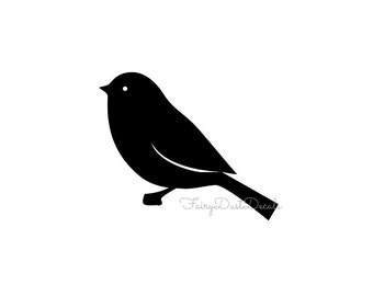 Bird wall sticker vinyl decal - one bird - vinyl wall decal - bird for tree wall decal - sparrow wall decal - simple bird wall sticker