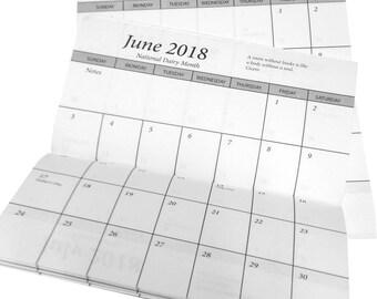 10 Pocket Calendars 2 Yr 2017-2018 Two Year Planner Datebook