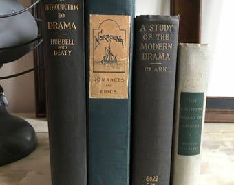 Vintage book bundle-drama, history and Latin prose