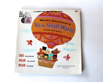 Vintage 1960s It's A Small World Record Story Book (Book Only)