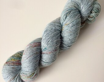Hand dyed Merino yarn single