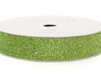 """Glitter Tape Spinach Green - 5/8"""" x 3 yds - 100% Archival"""
