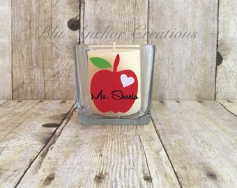 Personalized Candle Holder, Teachers Appreciation Gift, Teachers Gifts, Personalized Teacher Gift, Candle Holder, Teacher Week Gift