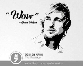 Owen Wilson - Wow - svg eps dxf pdf png