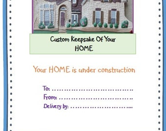Gift Certificate Custom HOME Replica