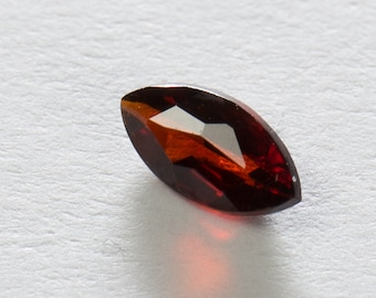 Natural Dark Orange Pyrope Garnet, Marquise Faceted, 0.28ct