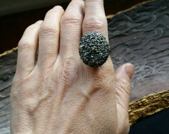Pyrite electroformed ring size 8.5