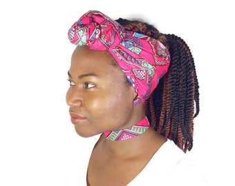 ankara head wrap, women accessories, women's gift, african head wrap, choker, button earring, ankara head wrap set, boho necklace