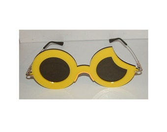 Glasses anime Yellow Sun crescent Moon cosplay costume