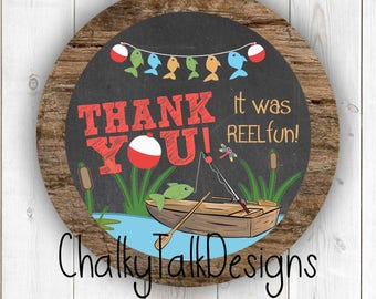 Gone fishing thank you favor tag, o-FISH-ally one gift tag, first birthday favor gift tags, reeling in the big ONE thank you favor tags