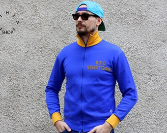 Vintage Agiva track top / Agiva Sportswear sports jacket / Radsport tracksuit top / Unisex cycling track top / Made in Belgium 70s S M