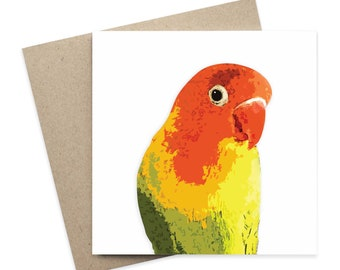 Duncan / Lovebird Greeting Card / Pet Greeting Card / Digital Artwork