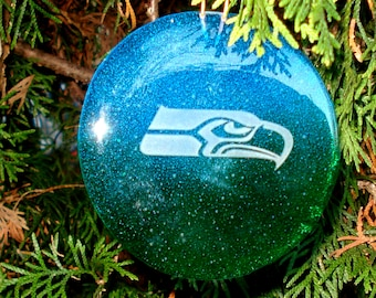 Seahawk Recycled Glass Ornament / Suncatcher
