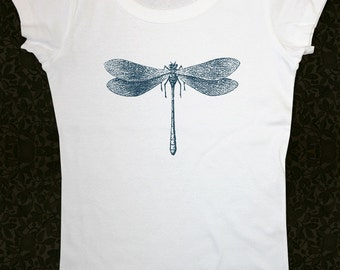 Dragonfly 11 - Women's Short Sleeve Scoop Neck Cotton T-Shirt Contoured Fit