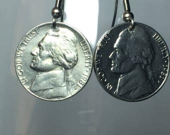 1981 Nickel Earrings Free Gift Bag 37 Year Anniversary 37th Birthday