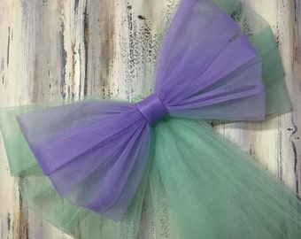 Tulle Pew Bow, 20 COLORS, Aisle Decor, Quinceanera, Chair Bows, Pew Bows, Tulle Bows, Church Decor, Wedding Decoration, Reception