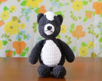 Crochet Skunk Handmade Child Plush Stuffed Animal