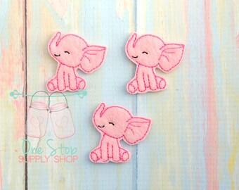 Baby Elephant felties - Elephant felties - Pink Elephant Felties - Elephant embellishment - Scrap booking - Hair bow center