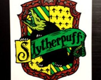 Slytherpuff Cross-House Crest Vinyl Sticker