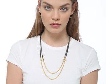 Double Strand Ball & Chain Necklace