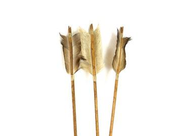 Set of 3 vintage native american wooden arrows | archery arrows | #1925