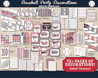 Baseball Party Decorations - Baseball Party - Baseball Birthday - Baseball Party Printables - Baseball Decorations - Baseball 1st Birthday