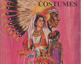 ON SALE On Sale - Learn About Costumes - Vintage Childrens Book  1970s