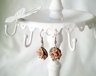 victorian earrings, vintage earrings, flower earrings, rose earrings, romantic earrings, boho earrings, boho jewelry, victorian jewelry