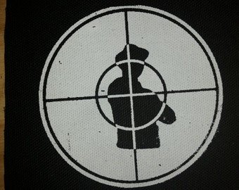 PUBLIC ENEMY PATCH - hip hop black canvas