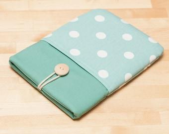 Kobo Aura H20 case / kindle sleeve / Kobo aura HD case / kobo mini case - Dots in sage