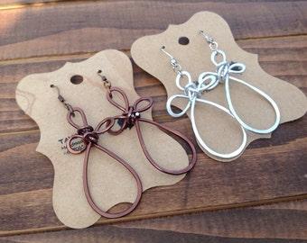 Cross Earrings, Wirewrapped  earrings