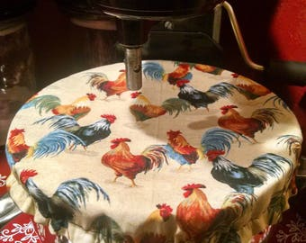 Kitchenaid/Stand Mixer Reversible Bowl Cover-Roosters/CREAM
