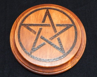 Wood Altar Pentacle- Medium
