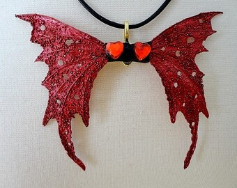 Red Fairy Wings-Go Red for Women Heart Disease-Pendant