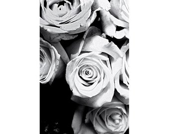 Black and White Rose Photograph, Abstract Photography, Rose Wall Art, Flower Photography, Black and White Decor, Rose Print