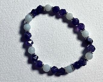 Amethyst aquamarine bracelet