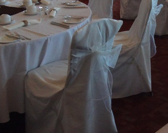 75 Ivory Organza Chair Sashes