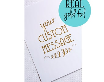 CUSTOM Gold Foil Print 5x7 & 8x10