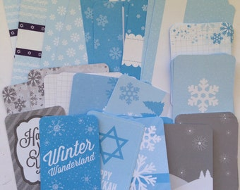Winter Wonderland - Project Life Cards, Journaling Cards, Winter, Hanukkah, New Years, PL