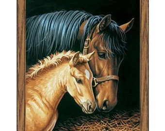 PAINTWORKS Dimensions Paint by Number Kit GENTLE TOUCH Horses 11 x 14 inches