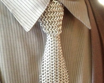 Einzigartige Kette Maile Metall Krawatte