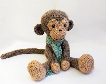 PATTERN : Monkey - Amigurumi Monkey-pattern - Crochet pattern-Knitted Stuffed animals- doll-toy-baby shower