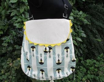 Penguin print Messenger bag