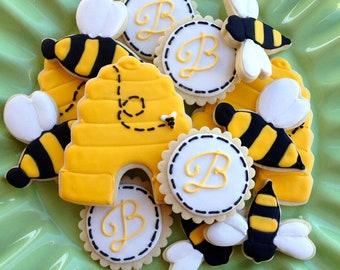 2 Dozen Bumble Bee Sugar Cookies