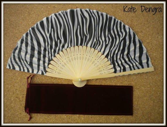 Zebra Lightweight Bamboo Hand Fan Budget Price Folding Fan from Spain