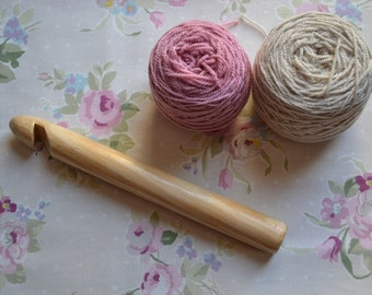 25mm Handmade Wooden Crochet Hook